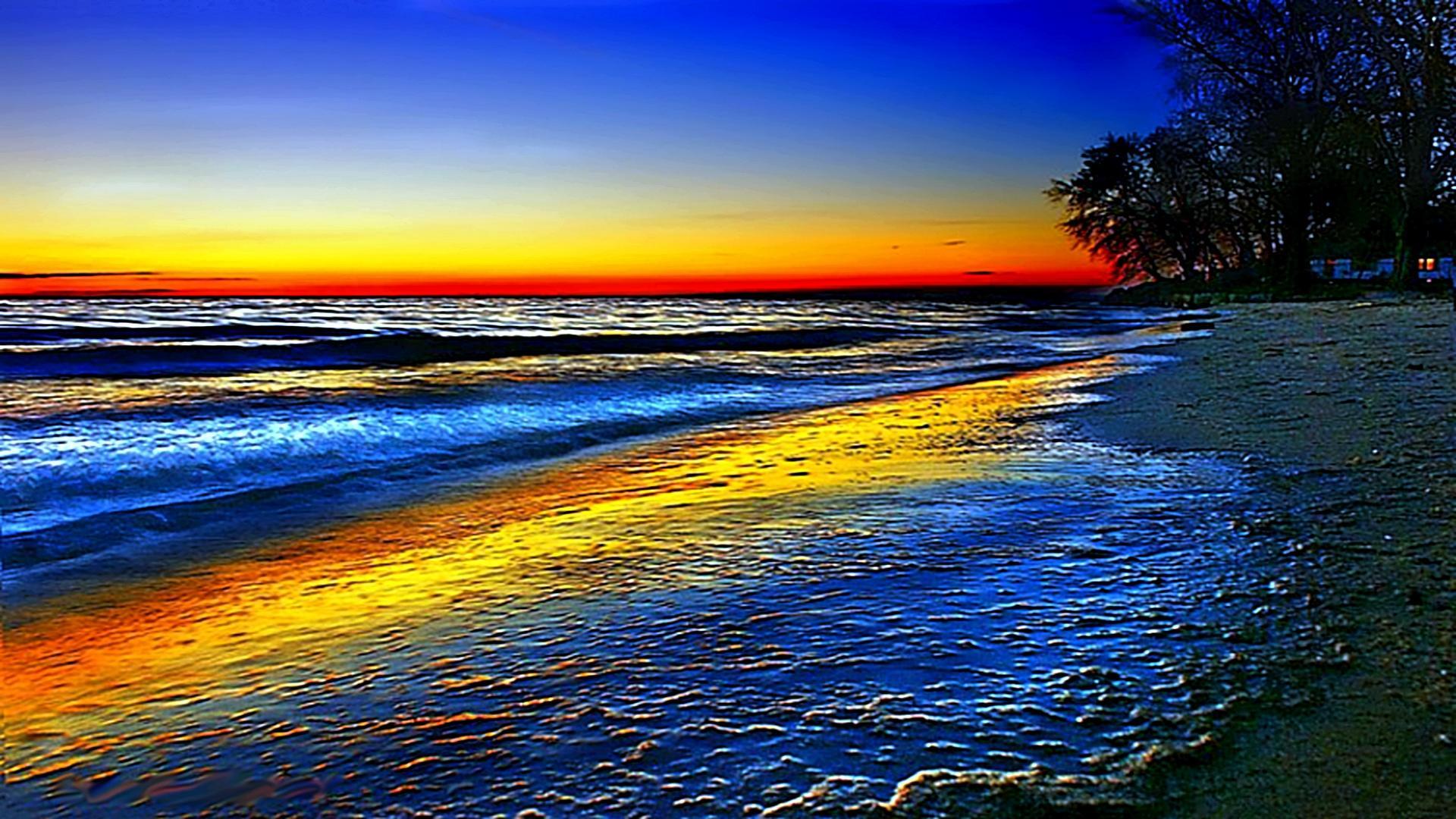 природа волна радуга вода  № 1039508 загрузить