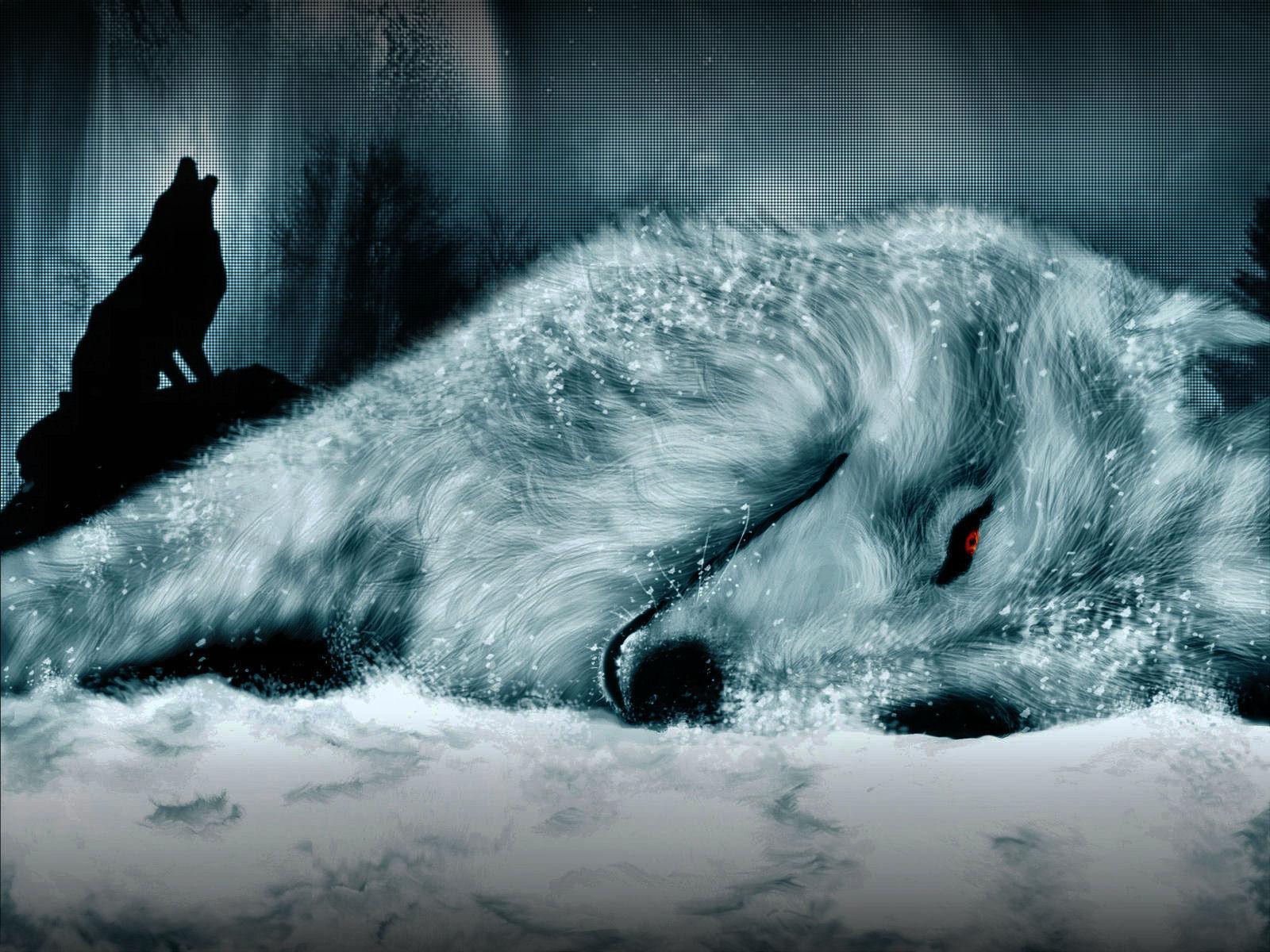 гифка волк одиночка надела