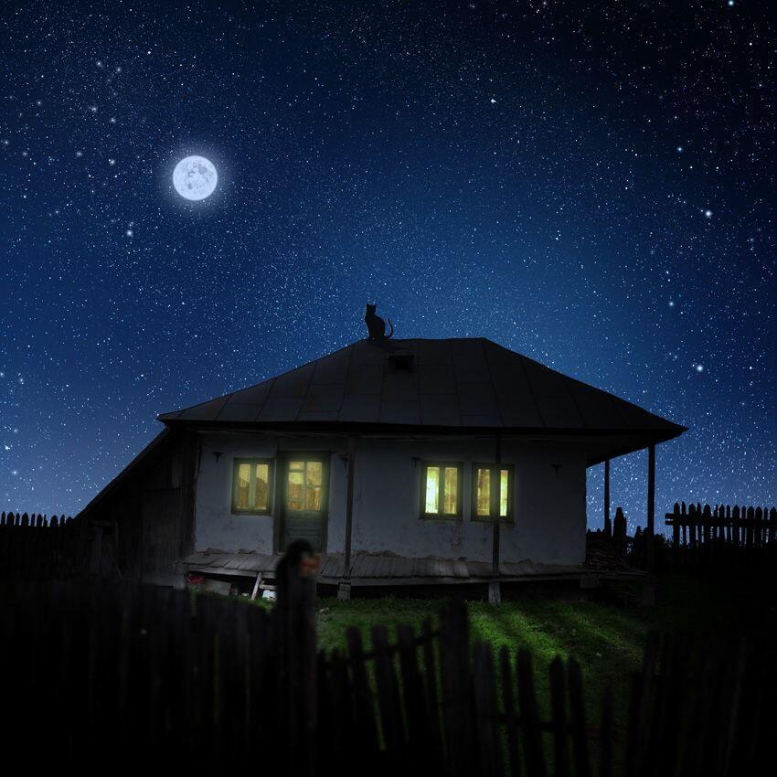 домики ночью картинки является членом