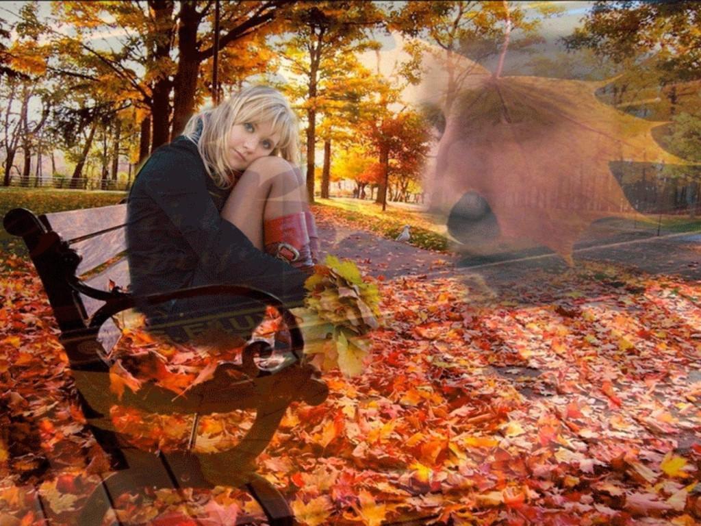 Рисунки, открытка про осень про грусть