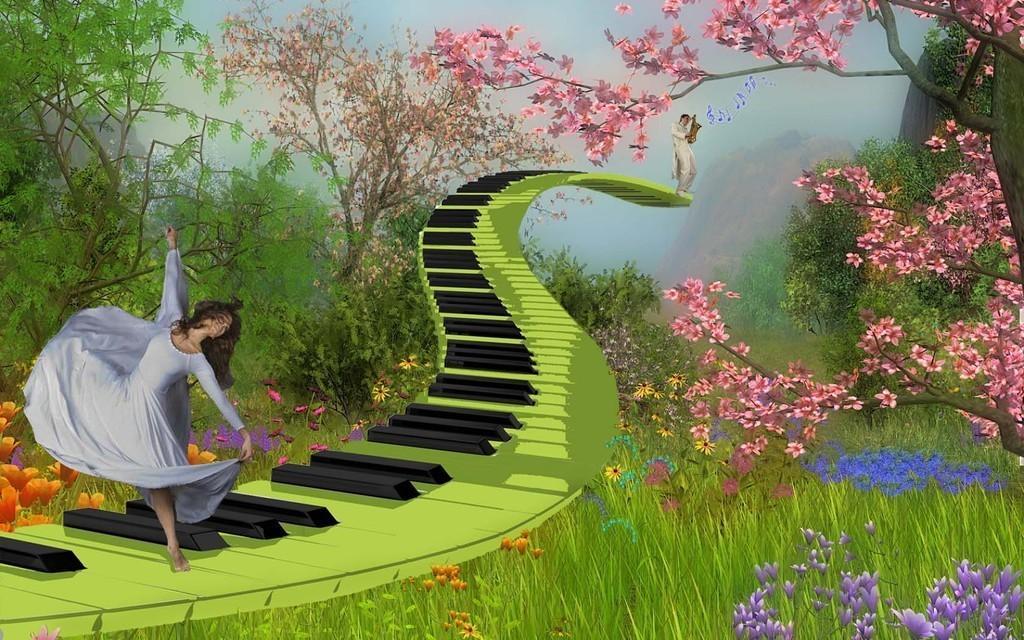 Марта, открытки мелодия весны