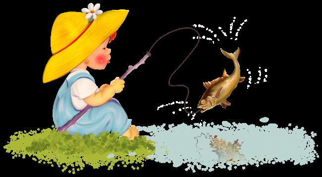Рисунок ловим рыбку