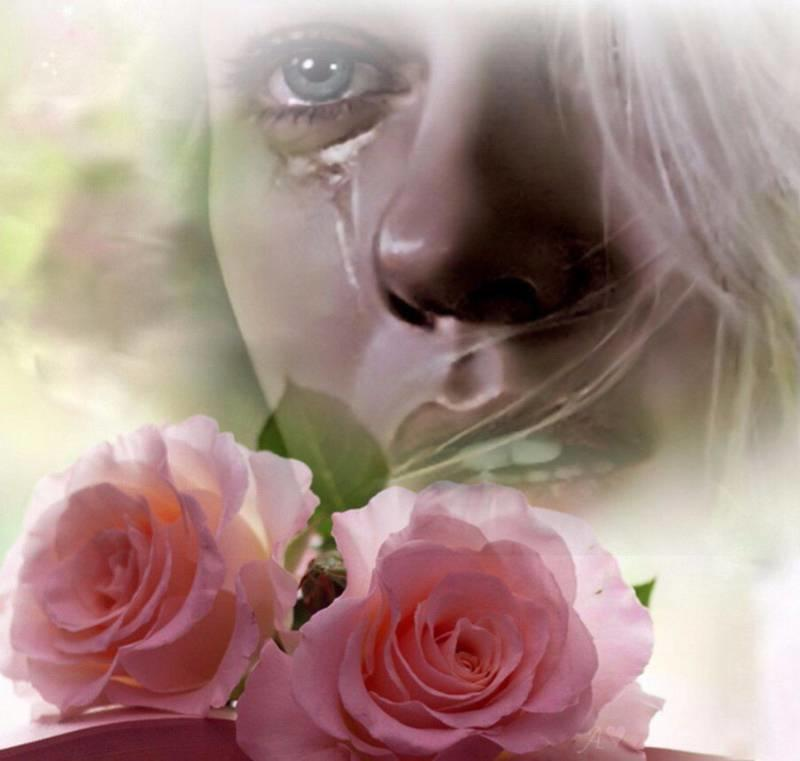 Открытка плачет
