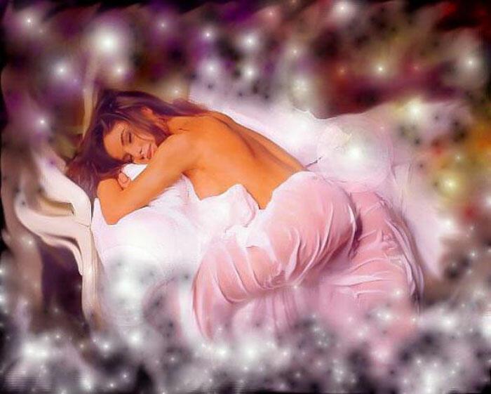 Алу, спящая женщина картинки анимация