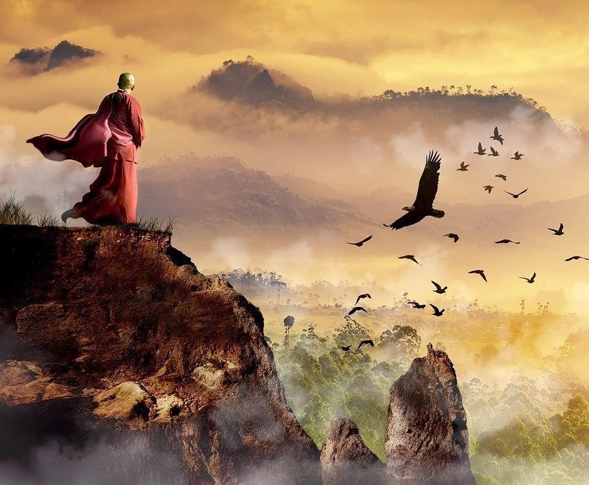 На краю стою. Завершился бал. Идти некуда. Крыльев Бог не дал. Бездна вечности не страшит уже. Видно будет там хорошо душе....