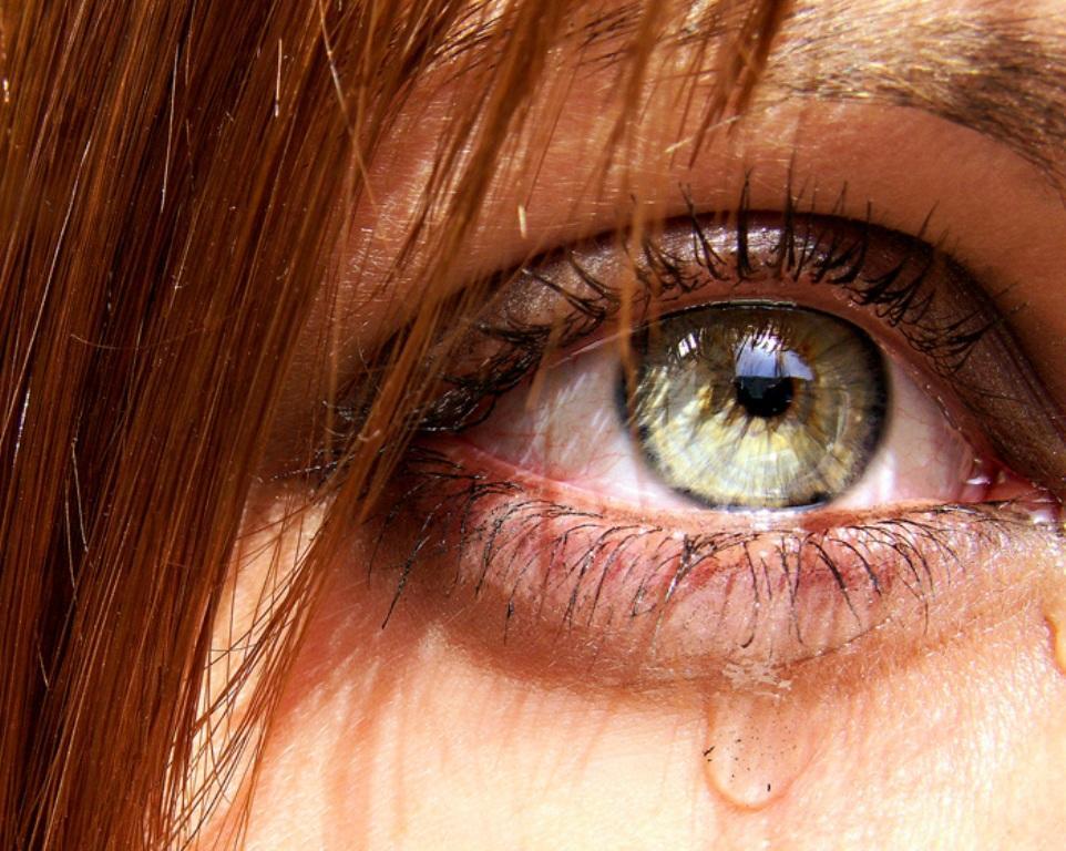 фото карих глаз в слезах повороте