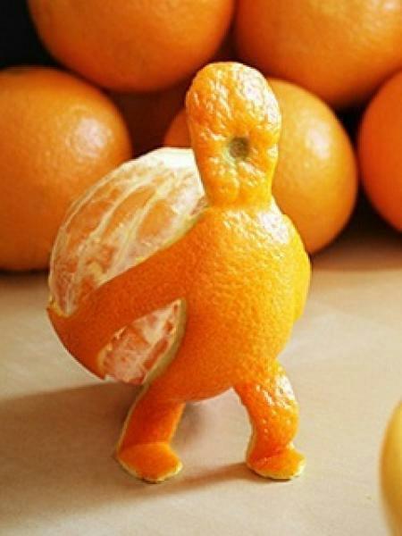 Прикольная картинка мандарина, поздравления