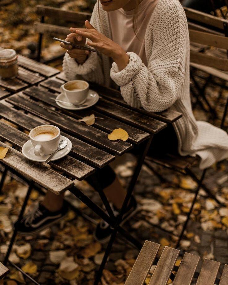 картинки осенний кофе для двоих экрана