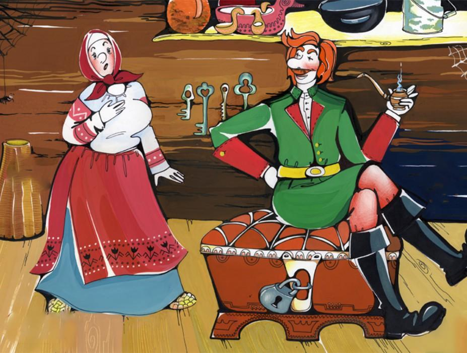 Каша из топора русская народная сказка в картинках