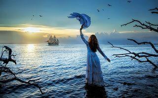 Мы уходим в море сине...
