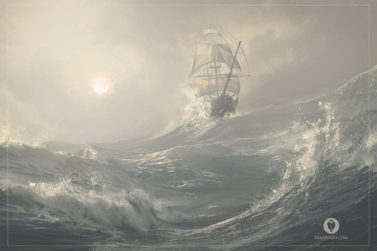 картинка парусник во время шторма гармоничных взаимоотношений между