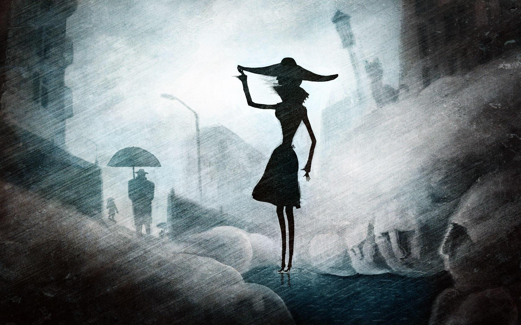 Дама в чёрном ( отзвук на стихотворение)