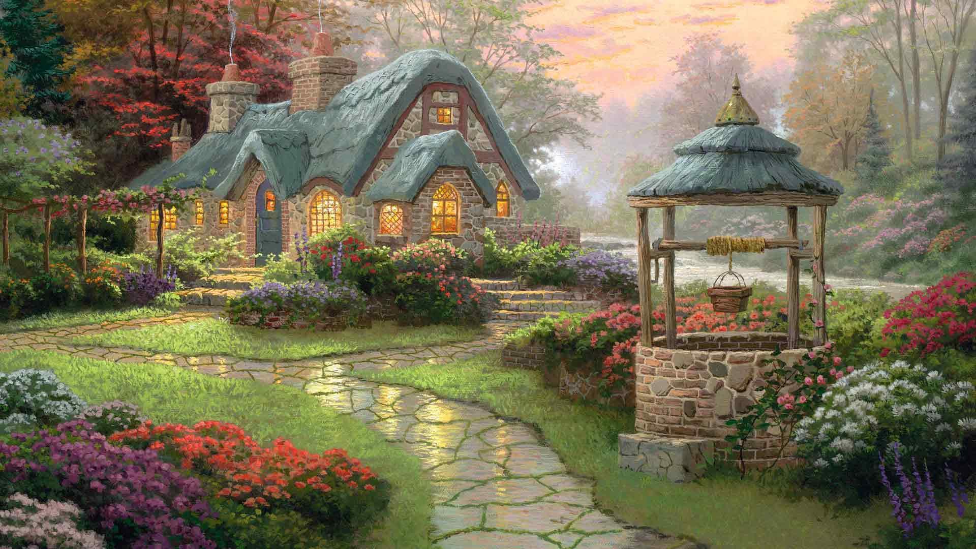 весенние домики картинки конце концов