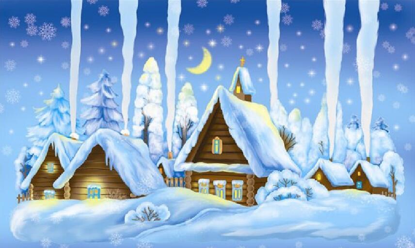 Домик зимой картинка для детей