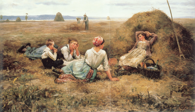 Картинки старины на сенокосе
