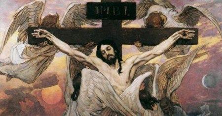 Голгофа. Крест. Христос распятый.