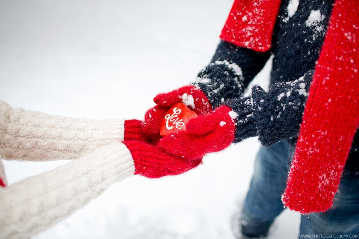 Картинки любви на аву зима