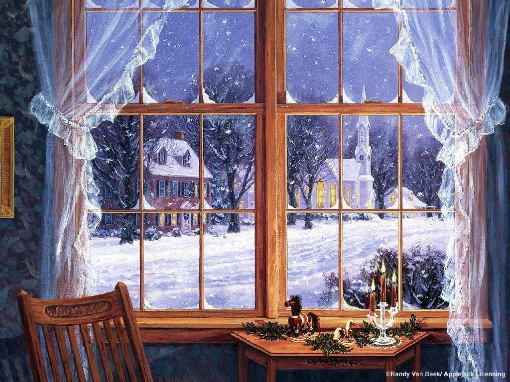 Открытки за окном