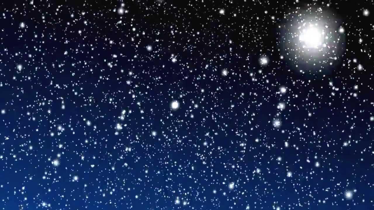 Белый снег с небесной глубинки..