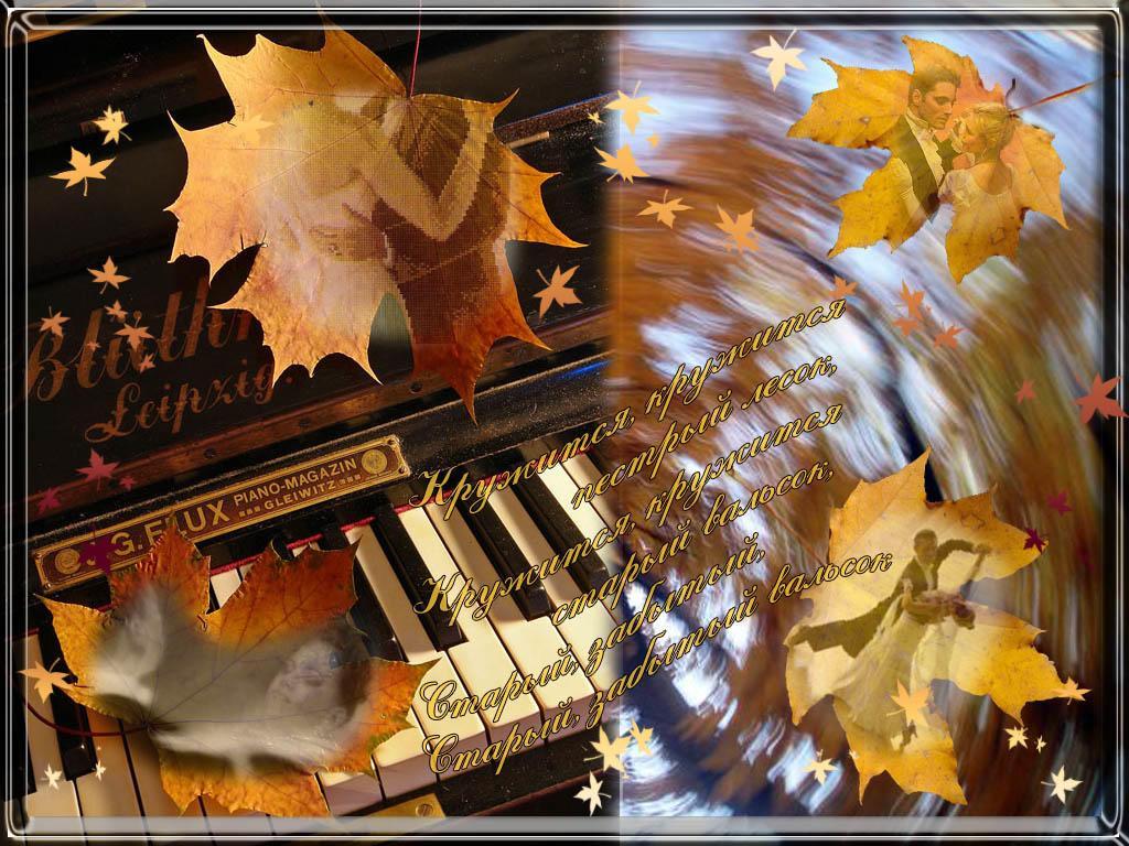 Музыкальная открытка листопад, одиночество собака картинки