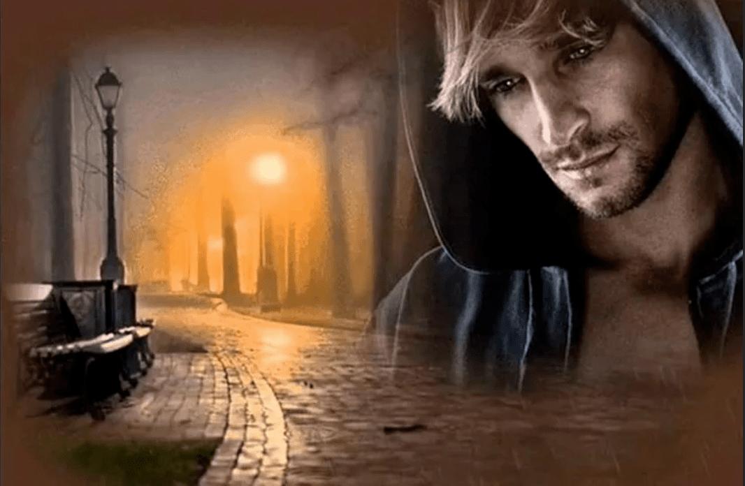 Открытка одиноким мужчиной