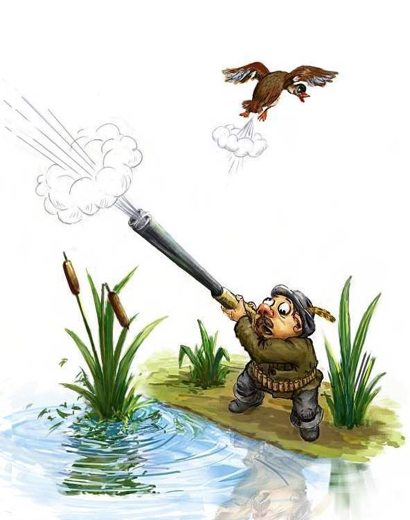 Рисунки охотника с утками