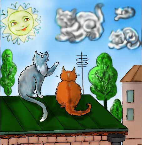 Мы рисуем на небе кошек,