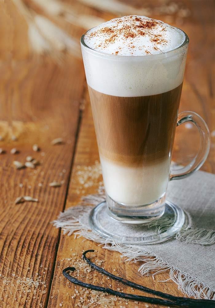 проекта картинки кофе латте в высоком стакане был