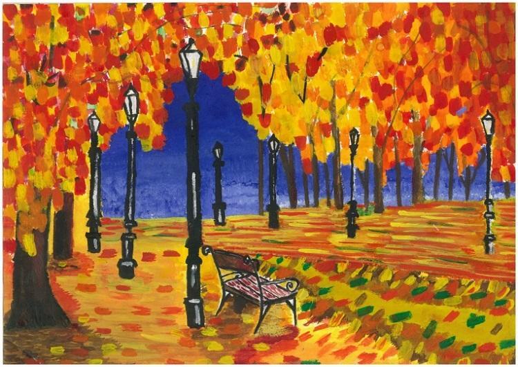 Золотая осень картинка срисовать, свадьбой лет открытка