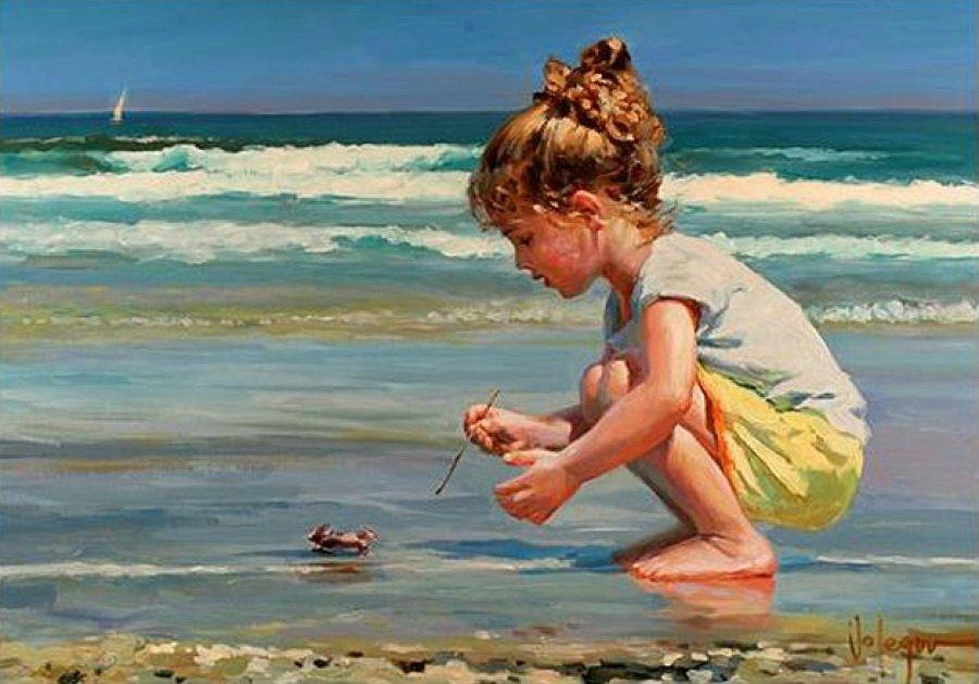 Днем, открытки детки и море