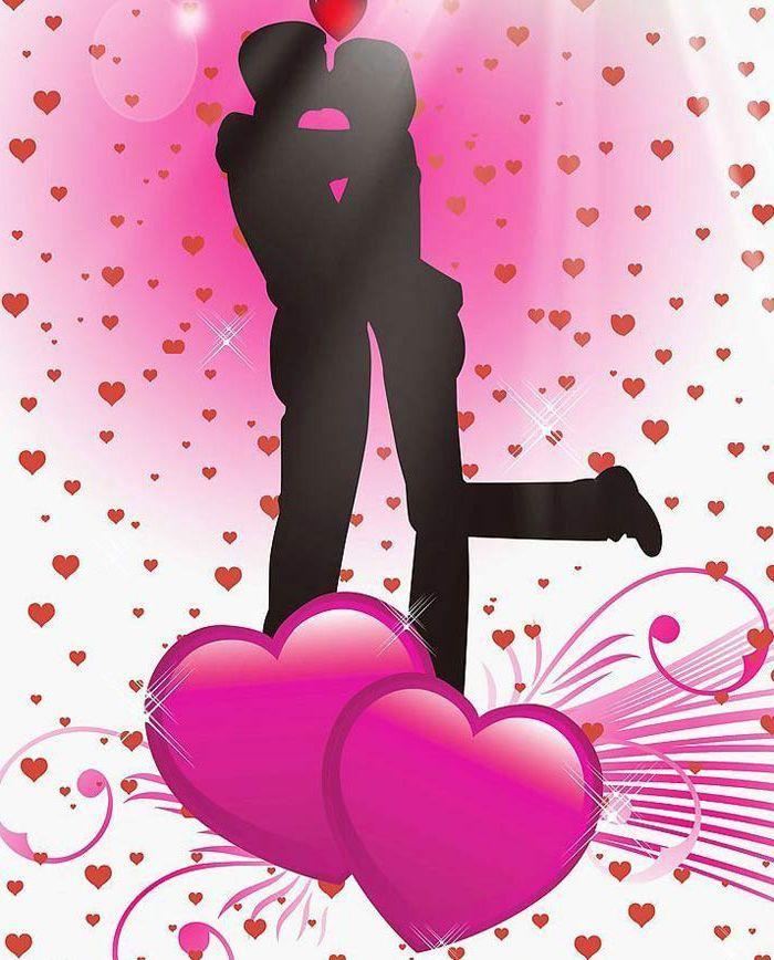 картинки с поцелуями и сердечками для любимого однажды волшебная новость