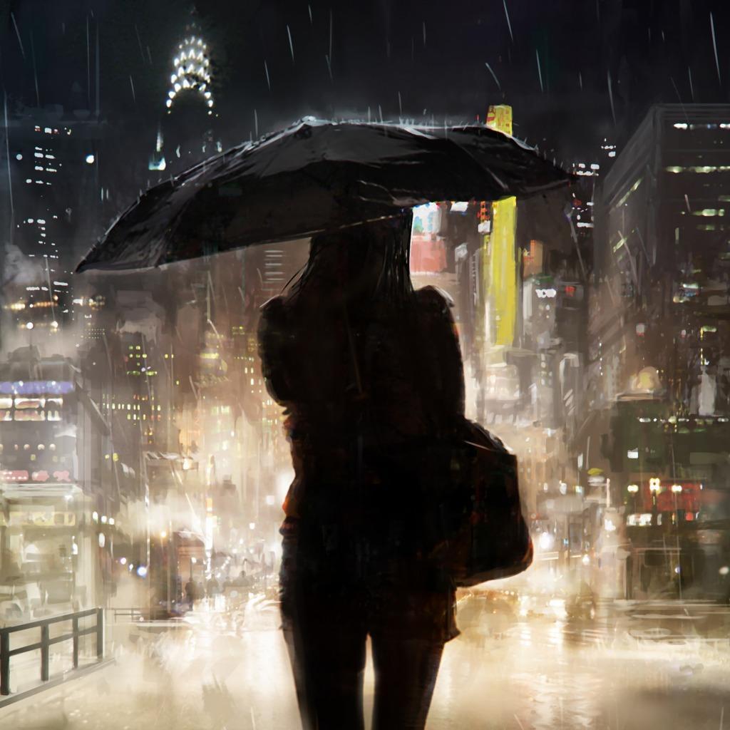 мужчина пристань зонт дождь бесплатно